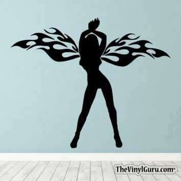 Sexy Angel Pin-Up Girl Wall Decal VIII