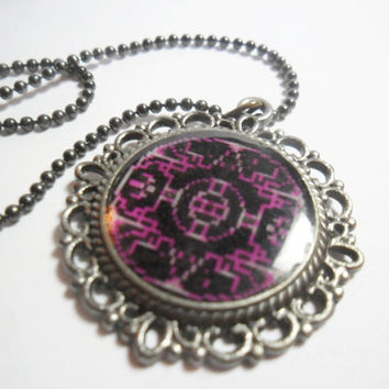 Chrono Trigger necklace Zeal skyway teleport symbol, 18 inches FREE size adjustments, retro video game jewelry