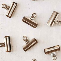 Silver Bulldog Clips Set