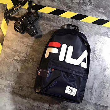 Trendsetter Fila Casual Sport School Shoulder Bag Satchel Laptop Bookbag Backpack