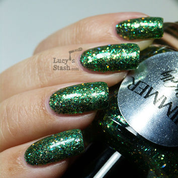 Shimmer Nail Polish  Kelly by ShimmerPolish on Etsy