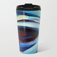 Black Hole Metal Travel Mug by mariameesterart