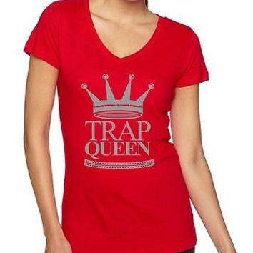 Trap Queen Fetty Wap Women's Sporty V Shirt