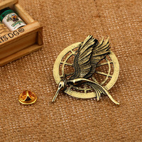 Hunger Games 2 brooch ,The hunger games jewelry in bronze / gold for clothes,bag,scaff,hat