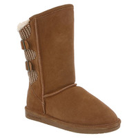 Women's Boshie by BEARPAW in color Chestnut/Natural