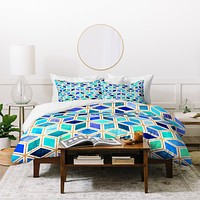 Elisabeth Fredriksson Magic Blue Duvet Cover