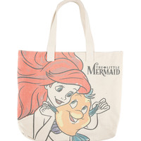 Disney The Little Mermaid Ariel & Flounder Canvas Tote Bag