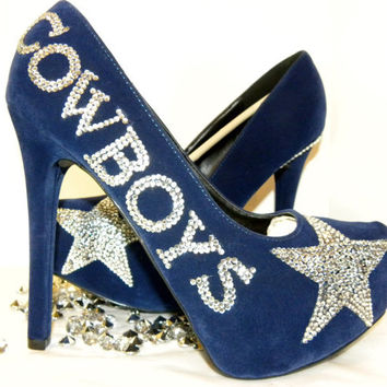 Dallas Cowboys Rhinestone Heels