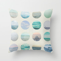 Ocean Polka dot  Throw Pillow by Pure Nature Photos