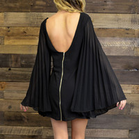 Hocus Pocus Black Bell Sleeve Dress