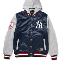Majestic Athletic NY Yankees Varsity Jacket with Hood