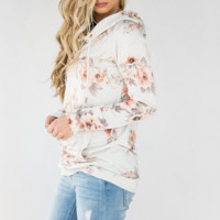 Women'S Long-Sleeved Printed Hooded T-Shirt Sweater