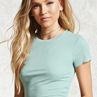 Ruffle Edge Cropped Tee