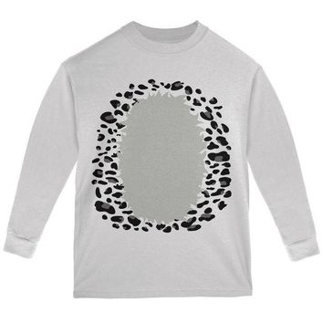 DCCKJY1 Halloween Snow Leopard Costume Youth Long Sleeve T Shirt