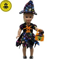 American Girl Doll Clothes Halloween Witch Dress Cosplay Costume Doll Clothes for 16-18 inch Dolls Madame Alexander Doll MG-256