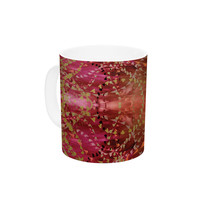 "Nikposium ""Summer"" Red Orange Ceramic Coffee Mug"