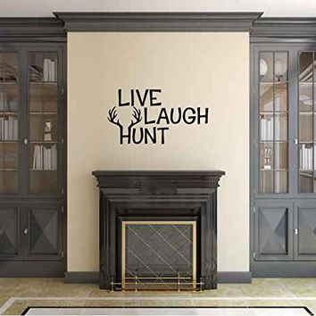 Live Laugh Hunt Vinyl Wall Words Decal Sticker Graphic