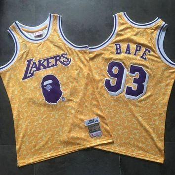 DCCK BAPE 93 x MITCHELL & NESS Lakers Swingman NBA Jerseys