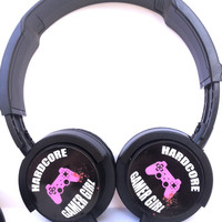 GAMER GIRL HEADPHONES  hardcore geek pro ps4 xbox  videogame cod minecraft battlefield wow one halo game