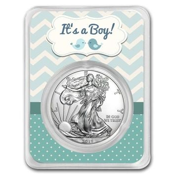 2019 1 oz Silver American Eagle - It's a Boy