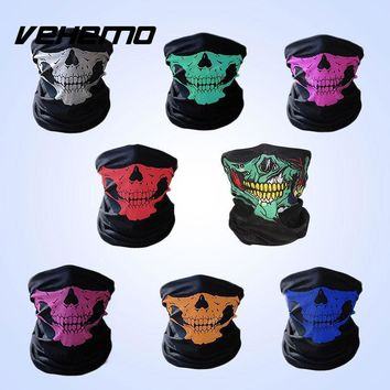1 Pcs Women Men Bike Motorcycle Skull Bandana Scarf Neck Face Mask Ski Helmet