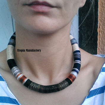 Fall, Earth Colors, Necklace, Choker Necklace, Boho Necklace, African Necklace, African Jewelry, Chokers, Choker Necklaces, Gift For Her