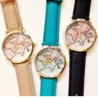 World Map Watches #W49