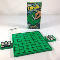 Pocket Othello Two Player Strategy Board Game Travel Games Family Game Night Date Night Games on the Go Reversi Strategy Game Vintage Games