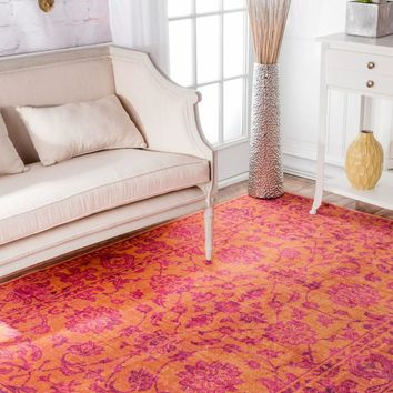 nuLOOM Distressed Floral Fiona Area Rug