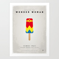 My SUPERHERO ICE POP - Wonder Woman Art Print by Chungkong