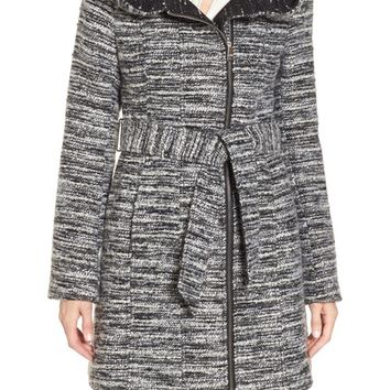 Catherine Catherine Malandrino Hooded Tweed Coat | Nordstrom