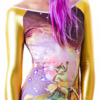 Too Fast Galaxy Cat Hazard PVC Dress Multi