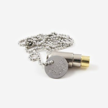 Fighting Hunger Bullet Necklace - Silver, Silver, Gold