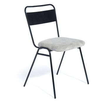 Working Girl Soft Dining Chair Ingleston Amazon, Raw Steel by Deadgood