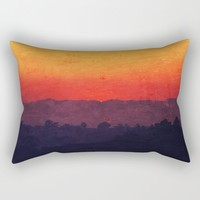 Five Shades of Sunset Painting Rectangular Pillow by Christine Aka Stine1