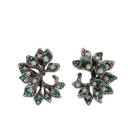 Emerald And Pearl Earrings | Marissa Collections