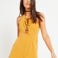 Parees Playsuit - Mustard