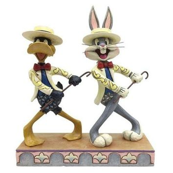 Looney Tunes Jim Shore Bugs Bunny and Daffy Duck On with the Show Statue