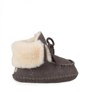 MDIG1O Baby Sparrow Sheepskin Lined Moccasin