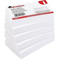 Universal® 3 x 5 Unruled White Index Cards, 500/Pack | Staples