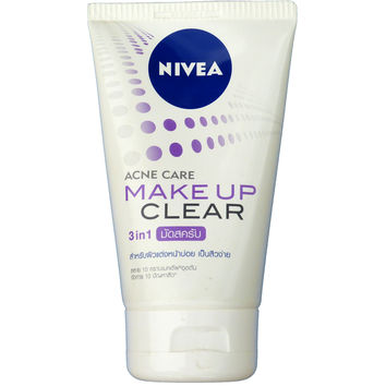 Nivea Acne Care Makeup Clear Mud Scrub Facial Cleanser 100g