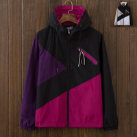 Men's 3M Slim Fit Quilted Lightweight Windbreaker Jackets with Hood