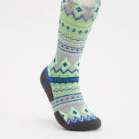 Wolf Grey Tribal Sock