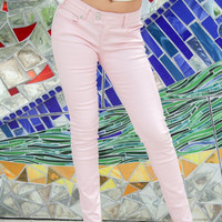 Coated Skinny Pants (Pink)