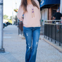 Beautiful Goodbyes Top, Nude
