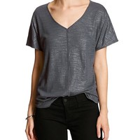 Banana Republic Womens Factory Foil Seam Tee