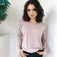 BERLIN FLEECE CREW NECK- MAUVE