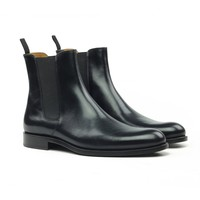THE ONYX LEATHER CHELSEA BOOTS