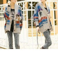 Women's Batwing Cloak Knit Sweater Ponchos Cardigan S-M Free Shipping!  - US$30.99