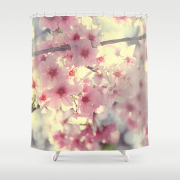 cherry blossom Shower Curtain by Marianna Tankelevich